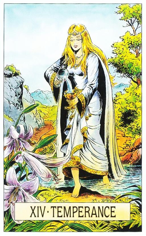Xiv Temperance Balance Archangel Zadkiel: DE ARCUS ARCANUM TAROT